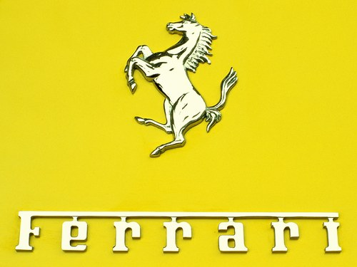 Caramel Coated Ferrari Logo Caramel Coated